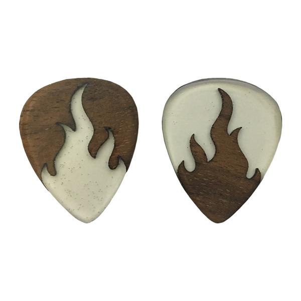 پیک چوبی  اپکسی رزین و گردو ترکیبی 1 گیتار چوپیک بسته 2 عددی