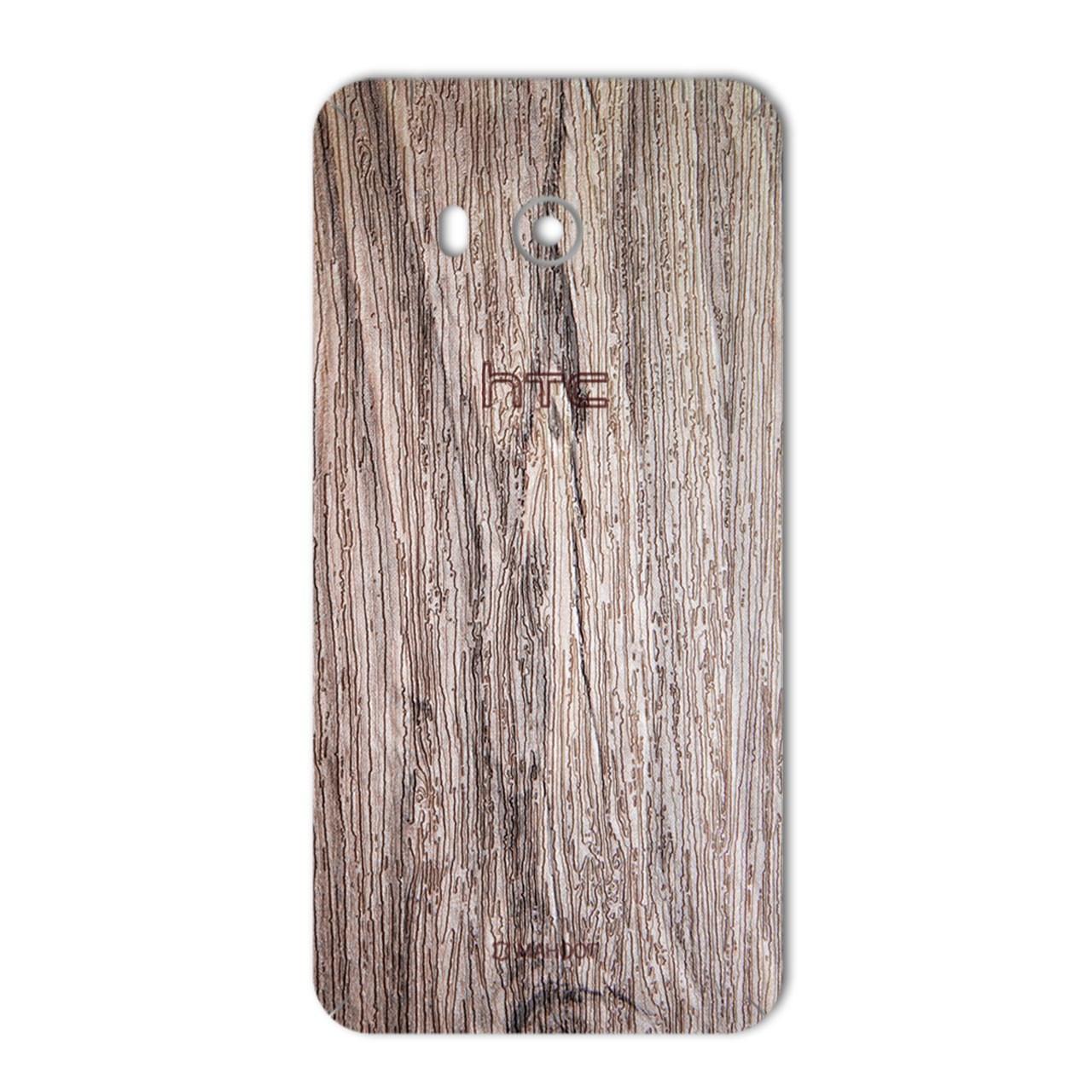 برچسب پوششی ماهوت مدل Walnut Texture مناسب برای گوشی  HTC U11