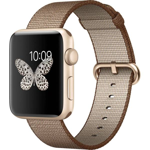 ساعت هوشمند اپل واچ 2 مدل 42mm Gold Aluminum Case with Coffe Caramel Band