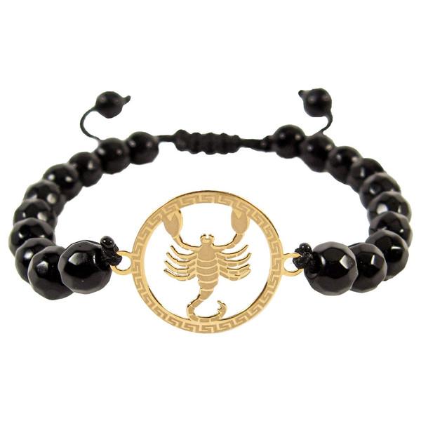 دستبند طلا 18 عیار حامد گالری ماه تولد آبان مدل bfg550