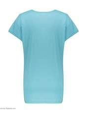 تی شرت آستین کوتاه زنانهفمیلی ورطرح دختر و پیزا کد 0162 رنگ آبی روشن -  - 3