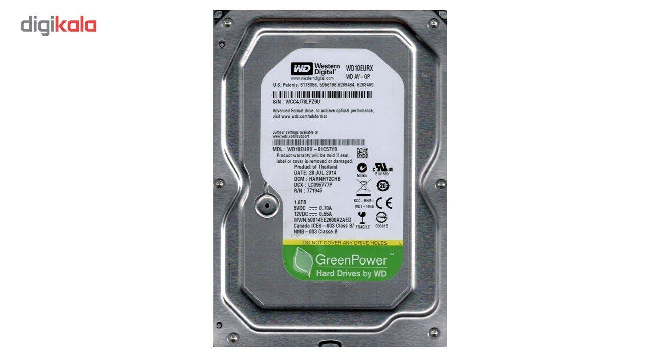 هارددیسک اینترنال وسترن دیجیتال سری سبز مدل WD10EURX ظرفیت 1 ترابایت main 1 1