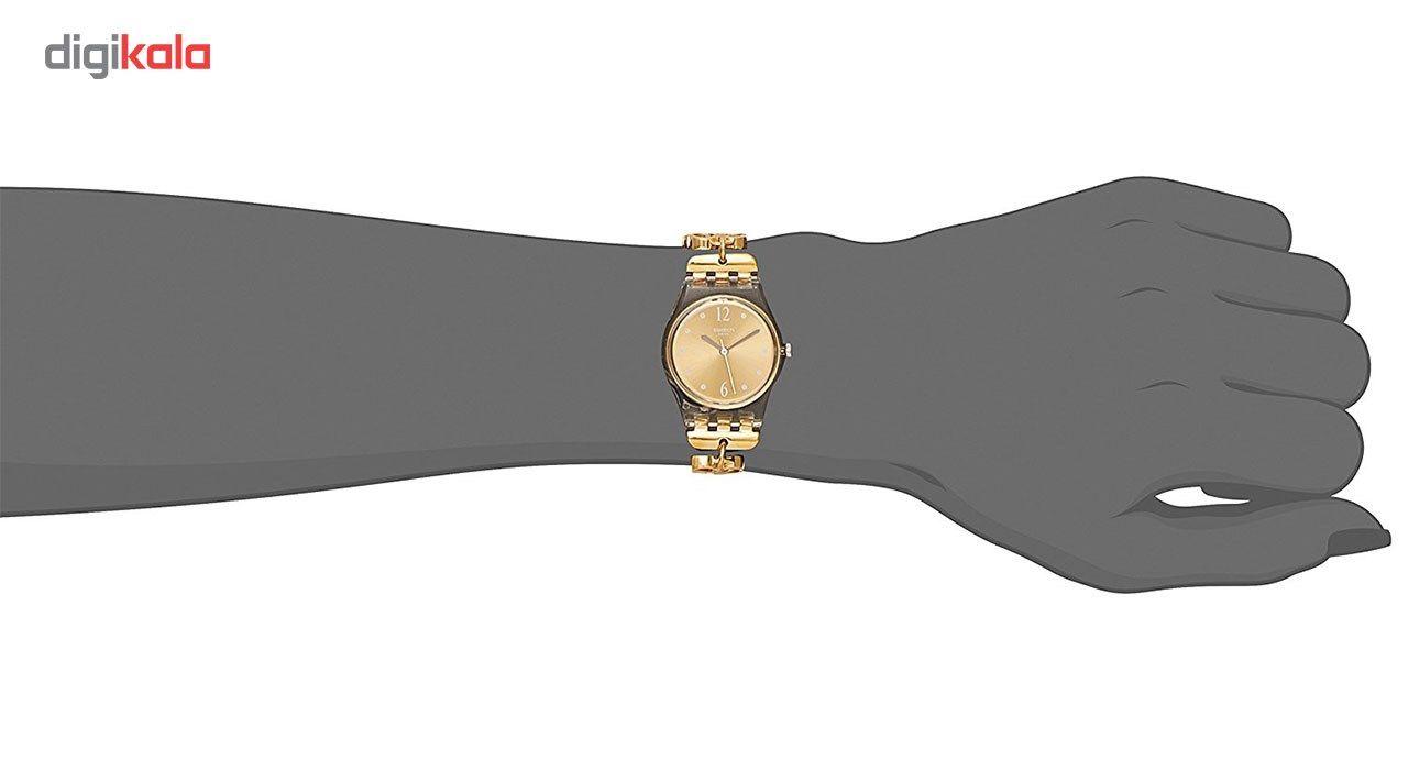 ساعت مچی عقربه ای زنانه سواچ مدل LK360G -  - 3