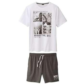 ست تی شرت و شلوارک مردانه لیورجی مدل WB2491846