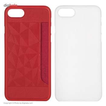 کاور اوزاکی مدل Ocoat Jelly And Pocket 2 In 1 مناسب برای گوشی موبایل آیفون 8/7
