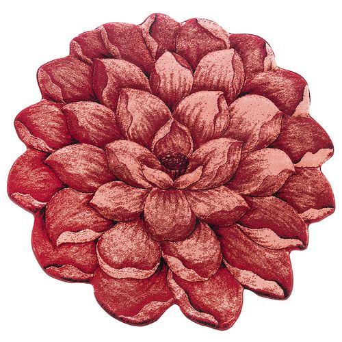 فرش تزیینی زرباف مدل گل نیلوفر سه بعدی سایز 95 × 100 سانتی متر