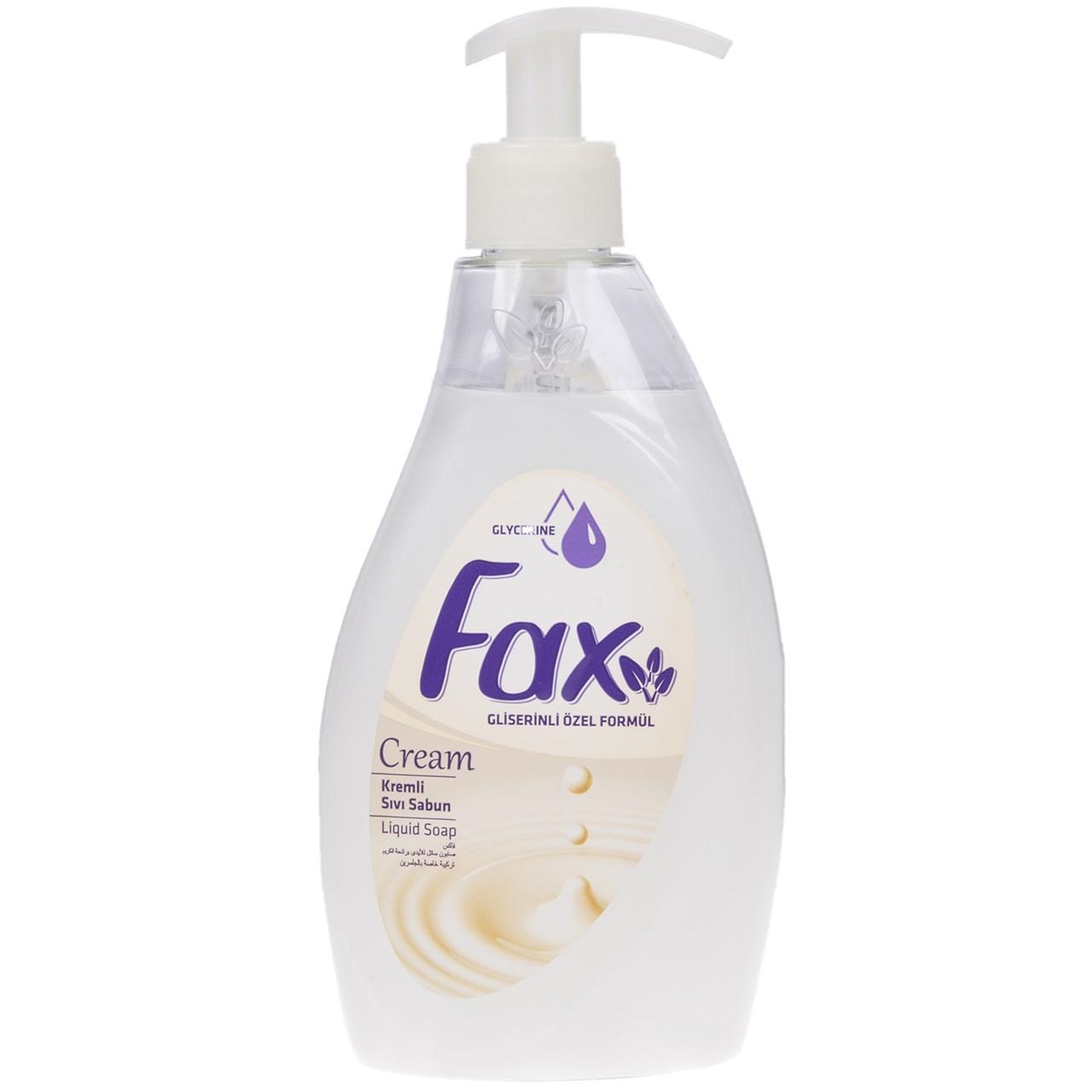 مایع دستشویی گلیسرینه کرمی فکس مدل Cream حجم 400 میلی لیتر