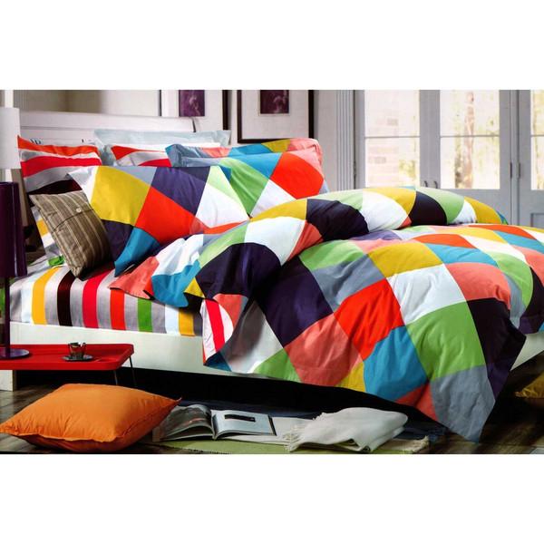 سرویس لحاف روتختی کالای خواب متین مدل Rainbow دو نفره 6 تکه 540
