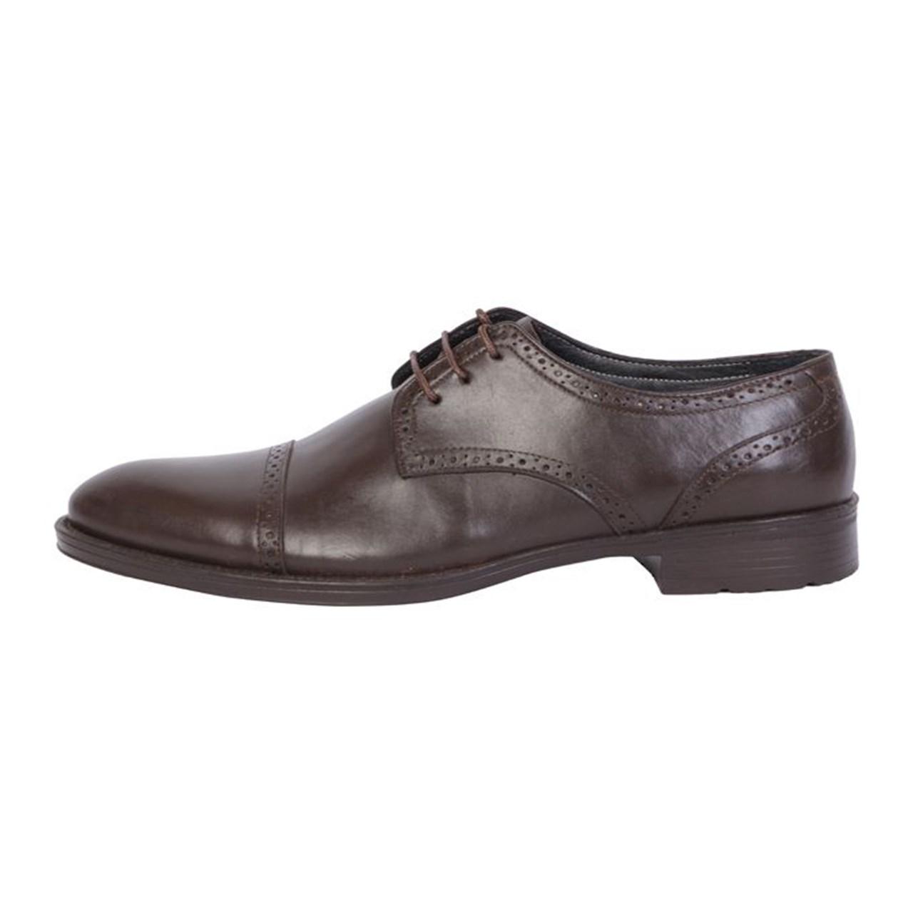 کفش مردانه چرم مهاجر  مدل m41 gh