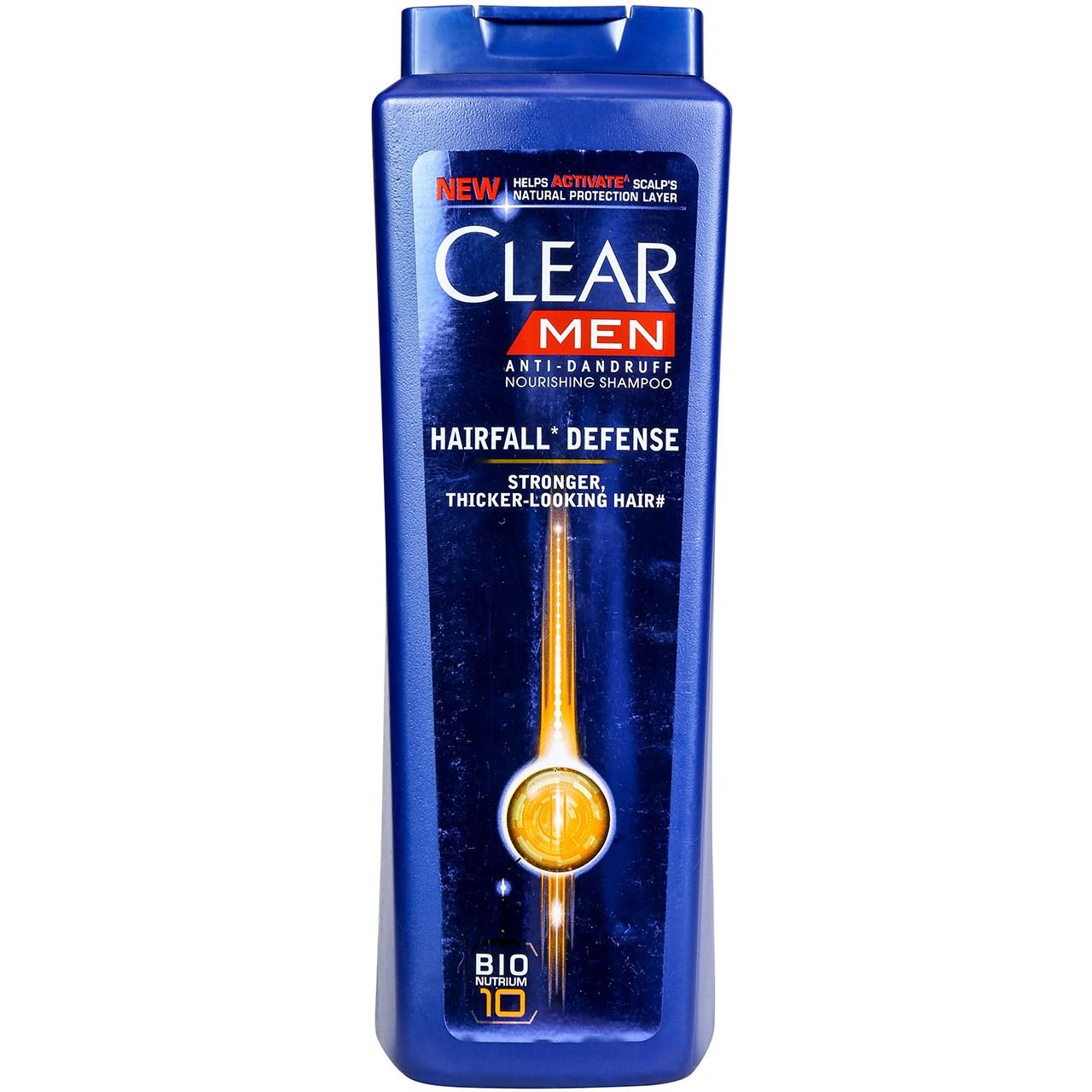 قیمت شامپو ضد شوره مردانه کلیر مدل Hair Fall Defense حجم 600 میلی لیتر