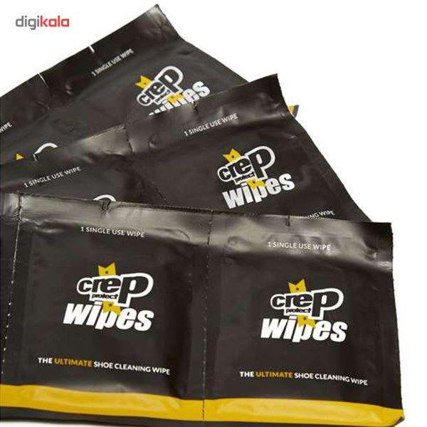 دستمال تمیز کننده کفش کرپ مدل Wipes بسته 12 عددی - کرپ پروتکت