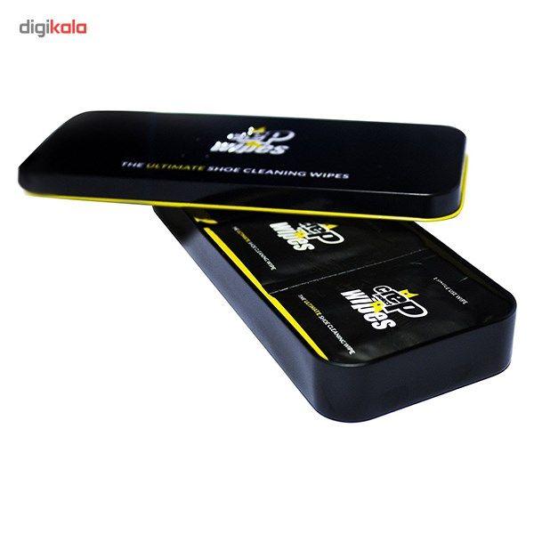 دستمال تمیز کننده کفش کرپ مدل Wipes بسته 12 عددی - کرپ پروتکت -  - 4