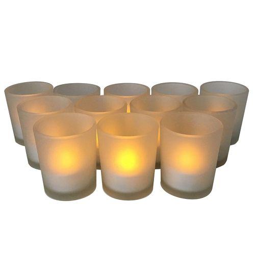شمع بدون شعله کالیفرنیا کندل مدل CC124GLS - بسته 12 عددی