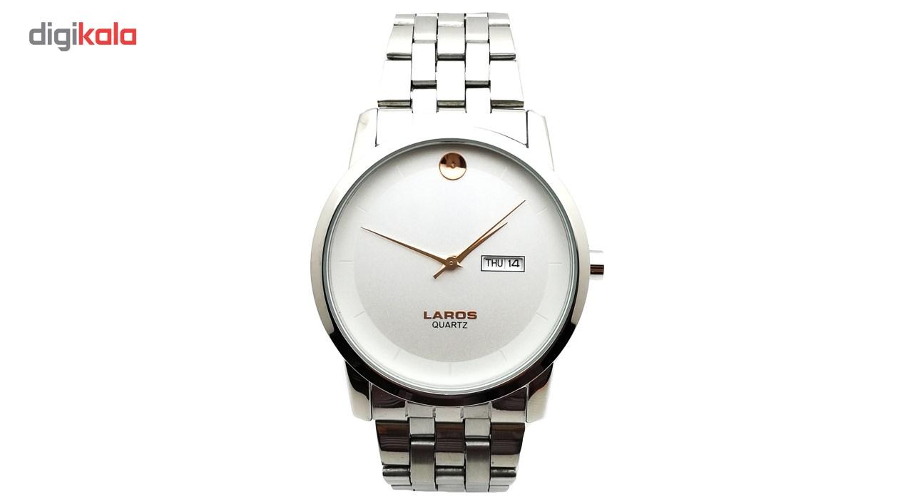 ساعت مچی عقربه ای مردانه لاروس مدل LM-N606-Rose