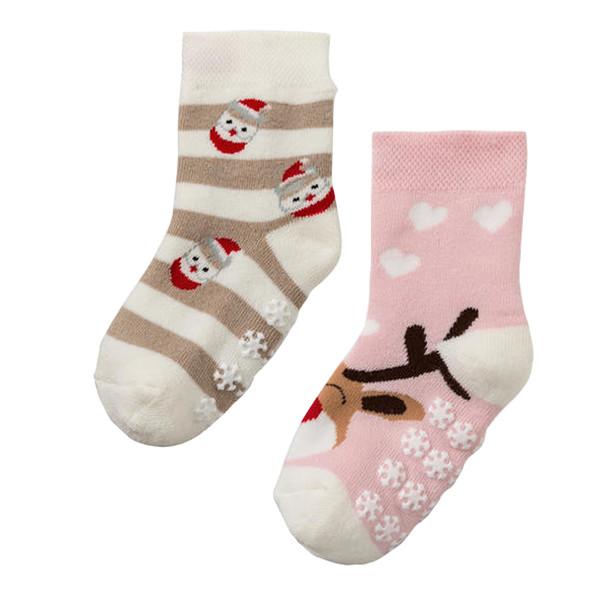 جوراب بچگانه لوپیلو طرح کریسمس کد 12 مجموعه دو عددی