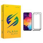 محافظ صفحه نمایش فلش مدل +HD مناسب برای گوشی موبایل سامسونگ Galaxy A50 بسته دو عددی