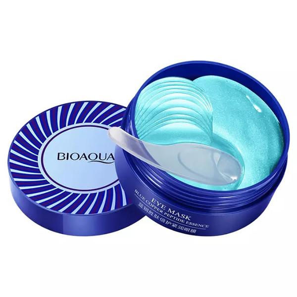 ماسک زیر چشم بایو آکوا مدل Blue copper peptide essence حجم 80 میلی لیتر بسته 60 عددی