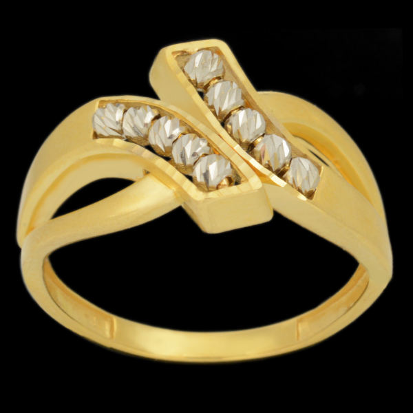 انگشتر طلا 18 عیار زنانه طلای مستجابی مدل آوا کد 670197