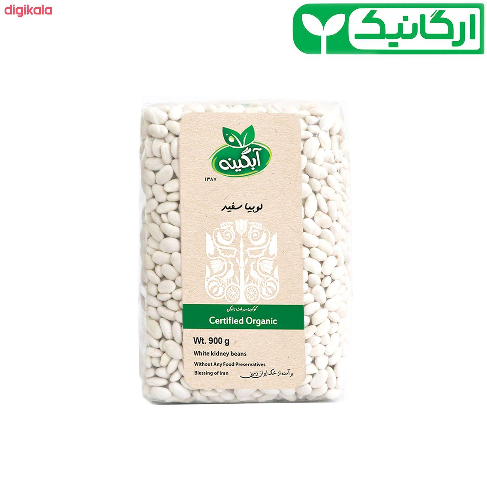 لوبیا سفید ارگانیک آبگینه - 900 گرم main 1 4
