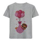 تی شرت دخترانه مدل بچه و بادکنک M73