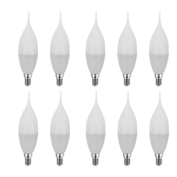 لامپ ال ای دی 7 وات تکتاب مدل TW7 پایه E14 بسته 10 عددی