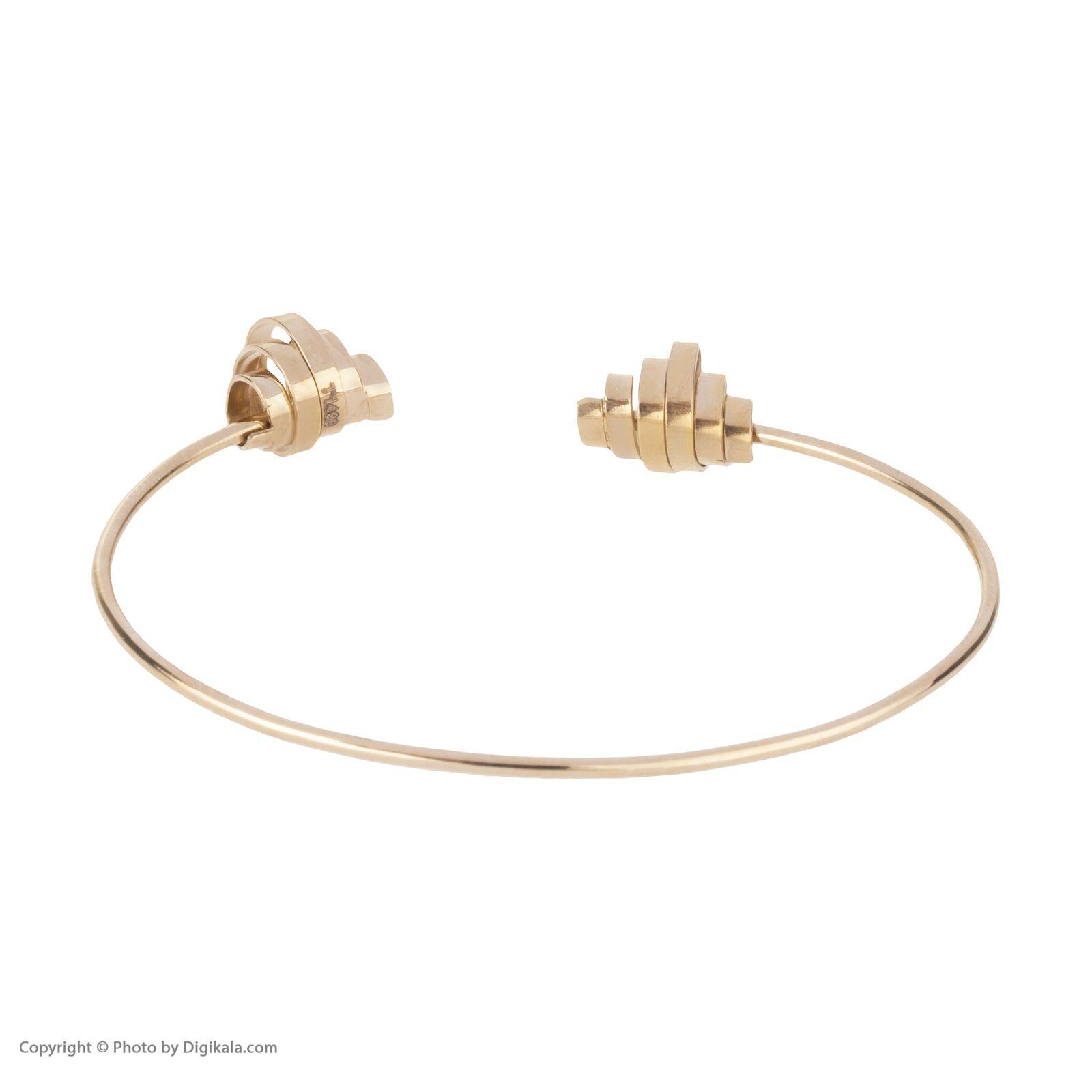 دستبند النگویی طلا 18 عیار زنانه سنجاق مدل X071474 -  - 5
