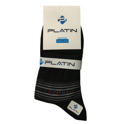 جوراب مردانه پلاتین کد JN107 رنگ مشکی