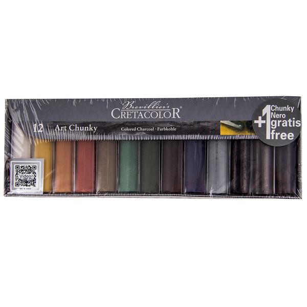 زغال طراحی 12 رنگ کرتاکالر مدل 49799