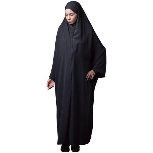 چادر جلابیب کرپ کن کن حجاب فاطمی مدل 201063kn