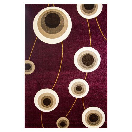 فرش ماشینی ساوین طرح بهرنگ زمینه زرشکی