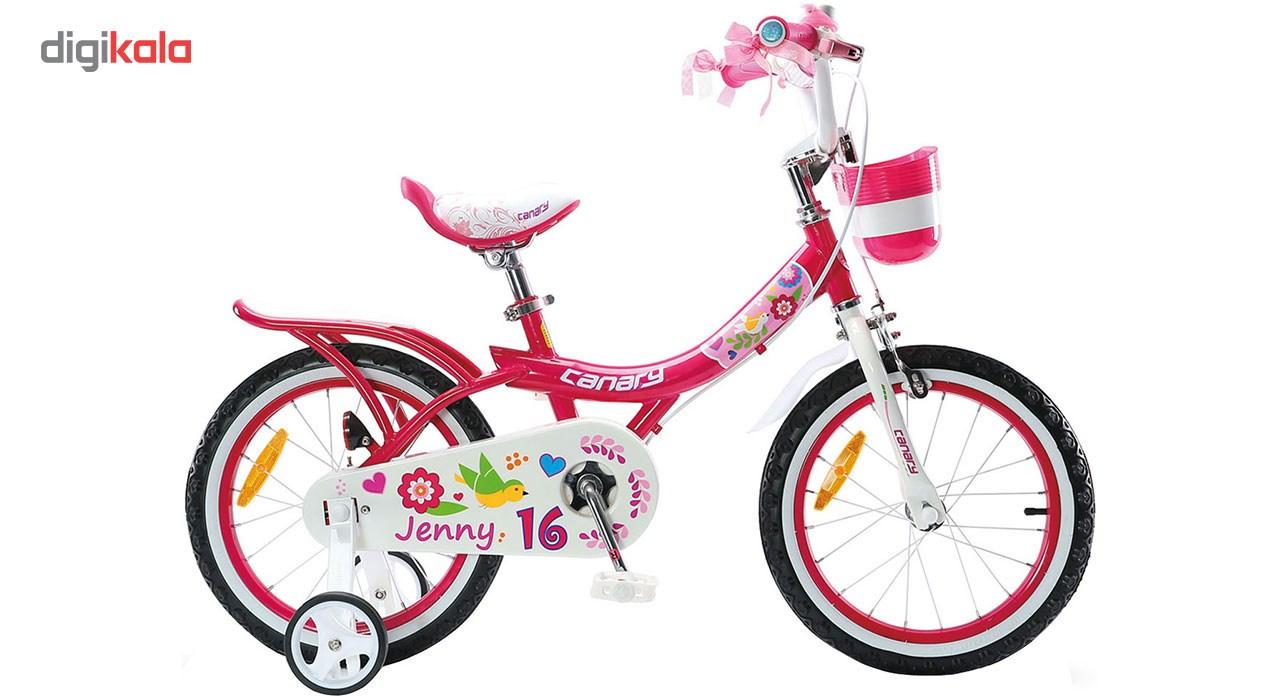 دوچرخه شهری قناری مدل Jenny سایز 16
