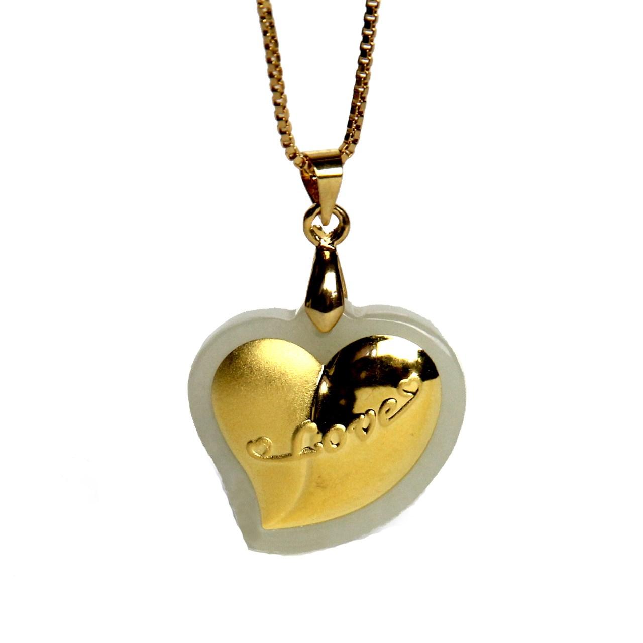 گردنبند طلا 24 عیار ماربلین طرح قلب تپنده کدGJ090