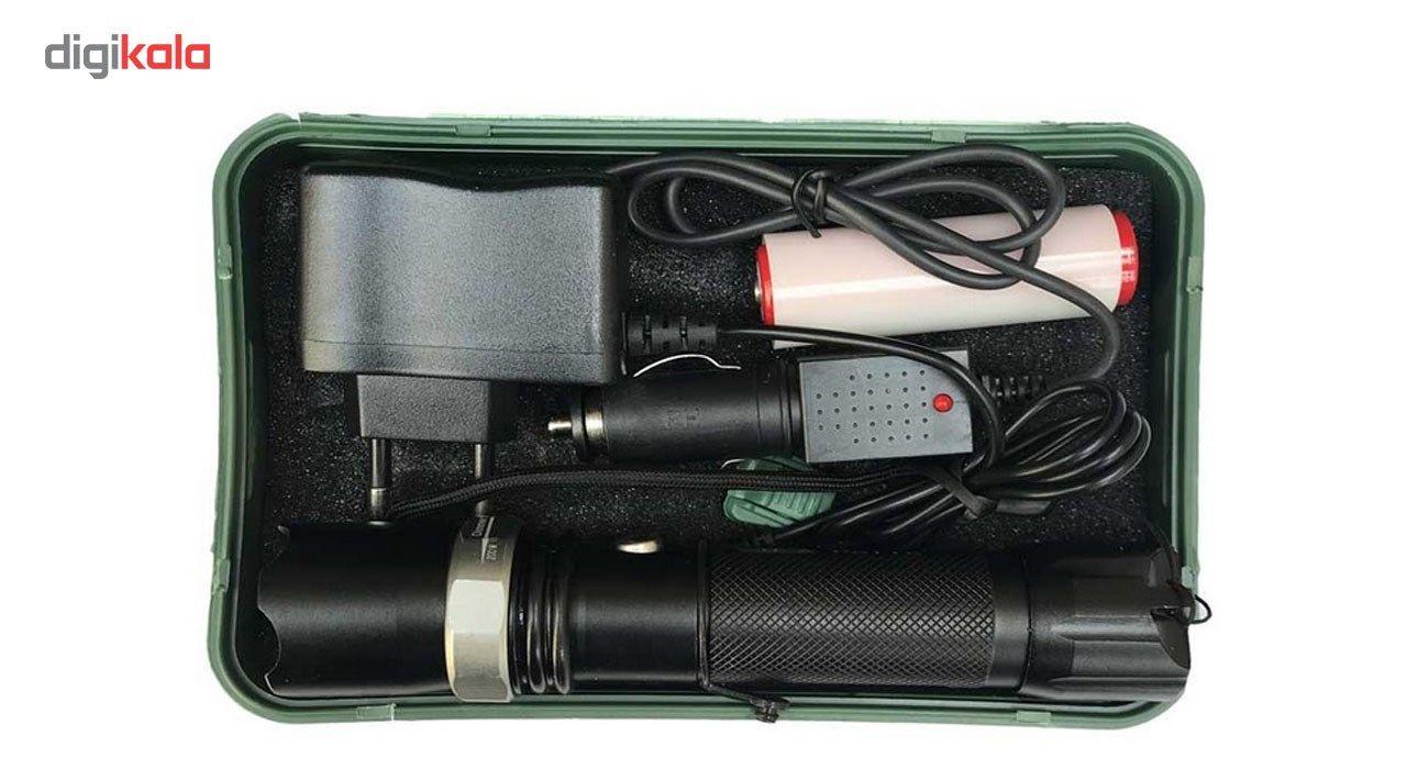 چراغ قوه شارژی مدل 01 به همراه کبریت ضدباد main 1 9