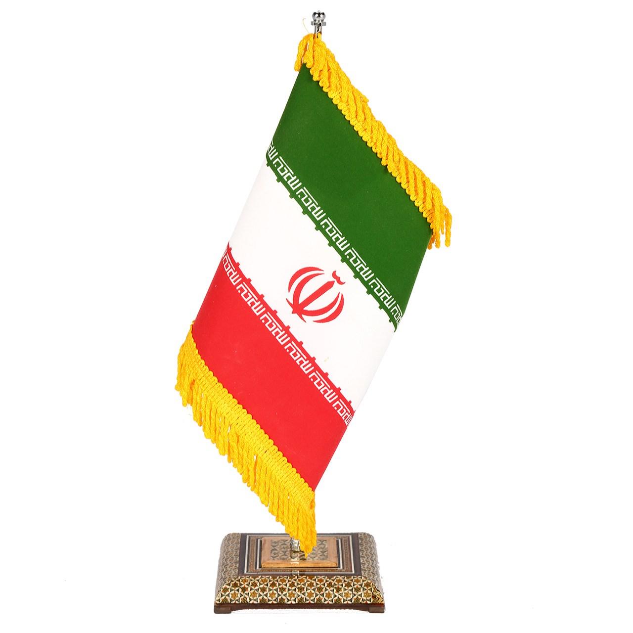 خرید                      پرچم رومیزی خاتم کاری گالری گوهران مدل اداری -1209