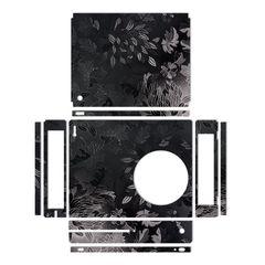 برچسب ماهوت مدلBlack Wild-flower Texture مناسب برای کنسول بازی Xbox One S