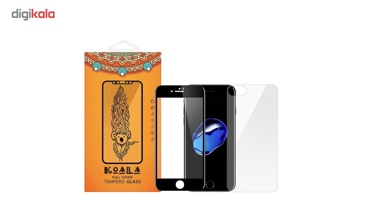 محافظ صفحه نمایش شیشه ای کوالا مدل Full Cover مناسب برای گوشی موبایل اپل آیفون 7 به همراه محافظ پشت Tempered main 1 1
