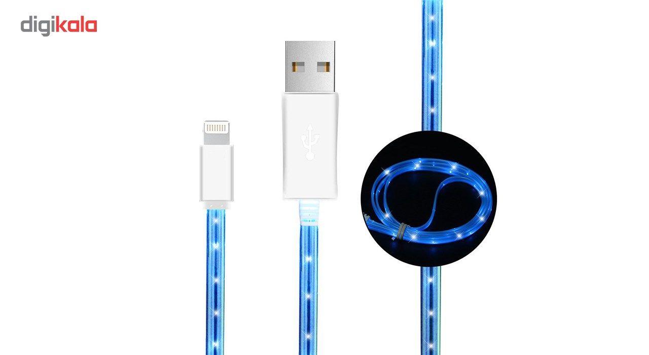 کابل تبدیل USB به  لایتنینگ چراغ دار  به طول 1 متر main 1 1