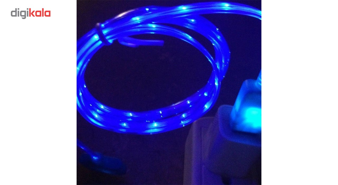 کابل تبدیل USB به  لایتنینگ چراغ دار  به طول 1 متر