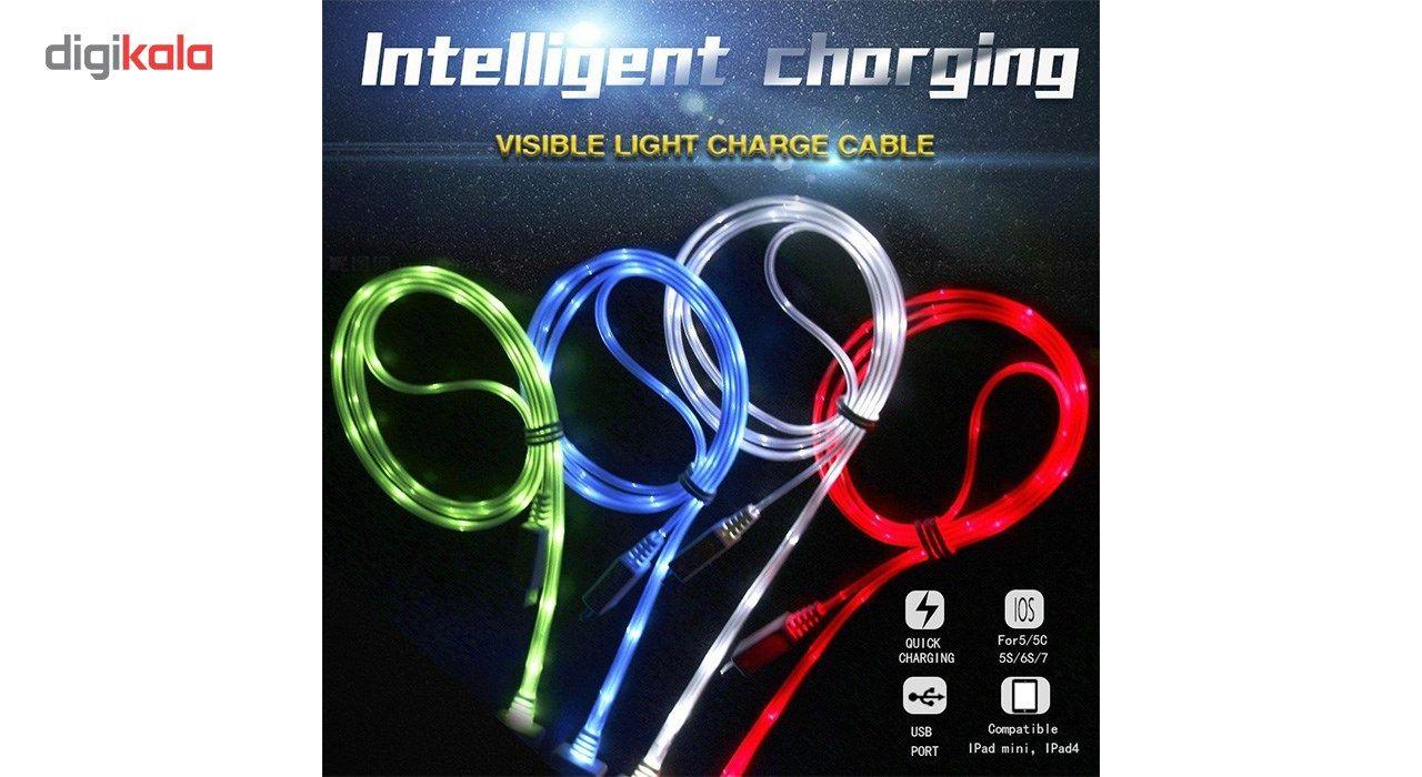 کابل تبدیل USB به  لایتنینگ چراغ دار  به طول 1 متر main 1 5