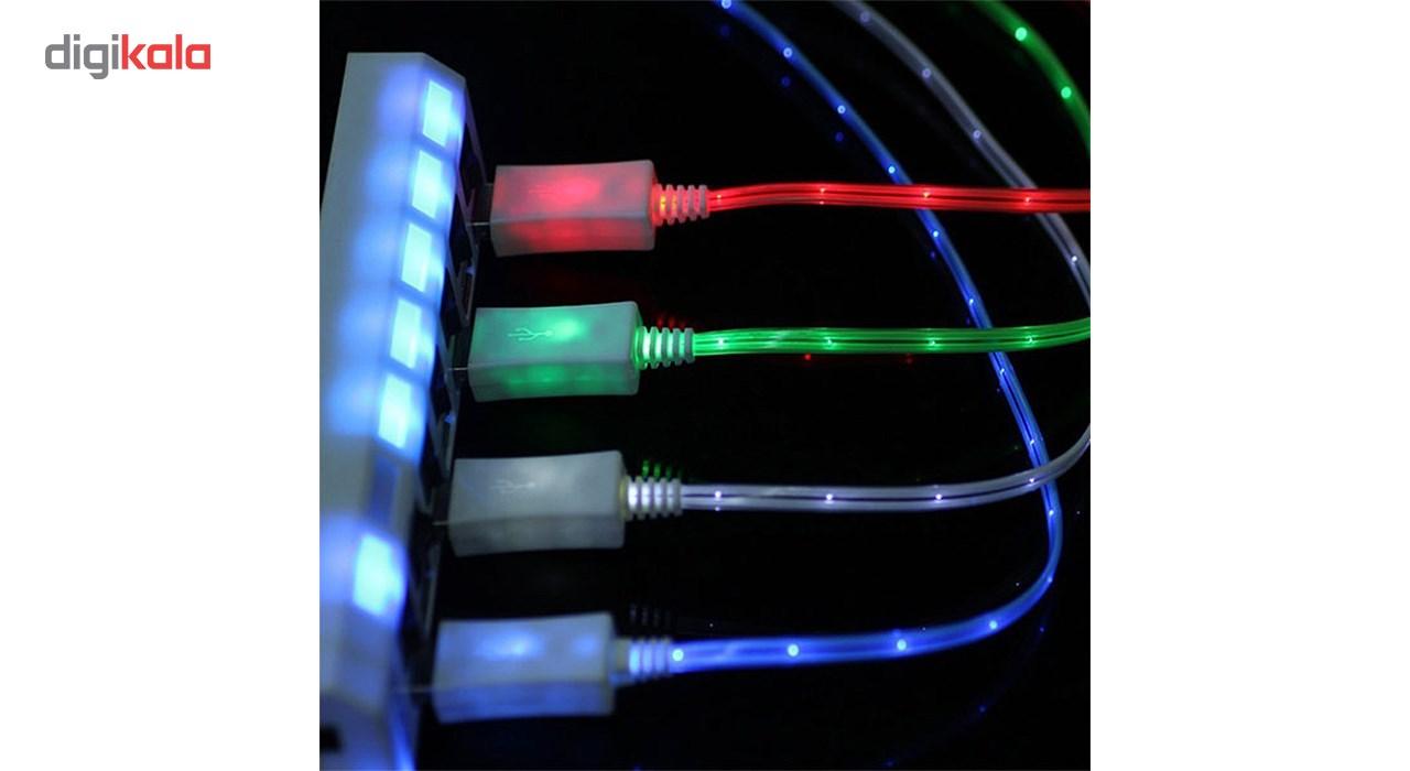 کابل تبدیل USB به  لایتنینگ چراغ دار  به طول 1 متر main 1 6