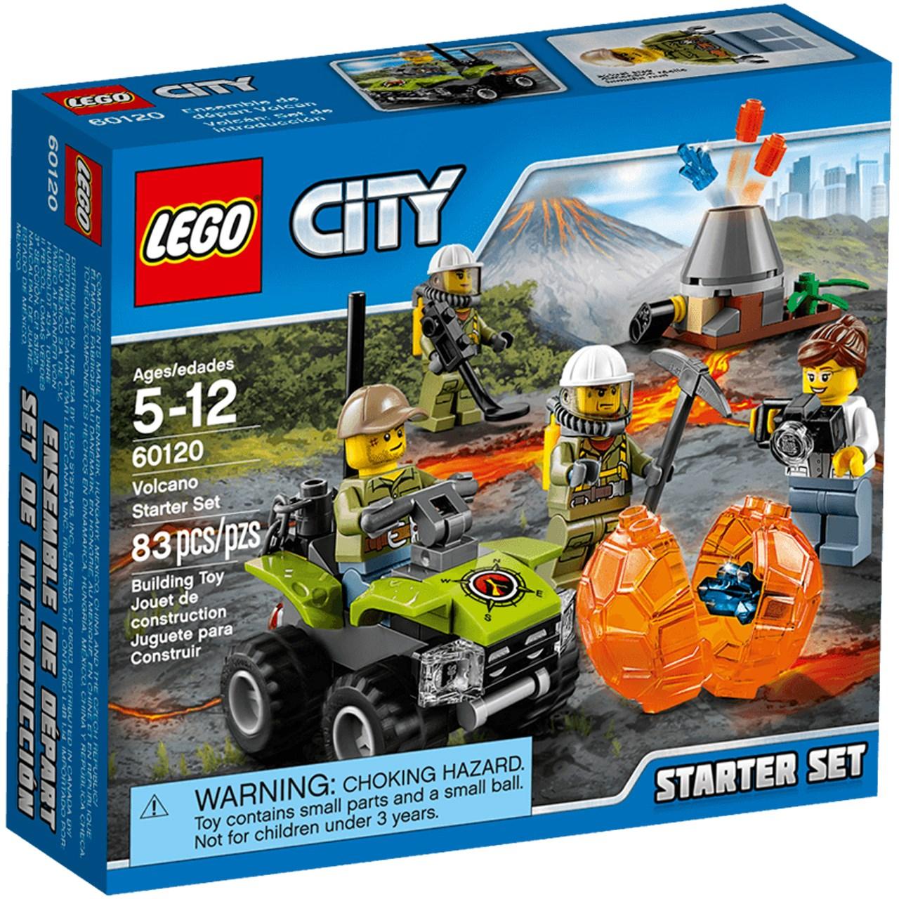 لگو سری City مدل Volcano Starter Set 60120