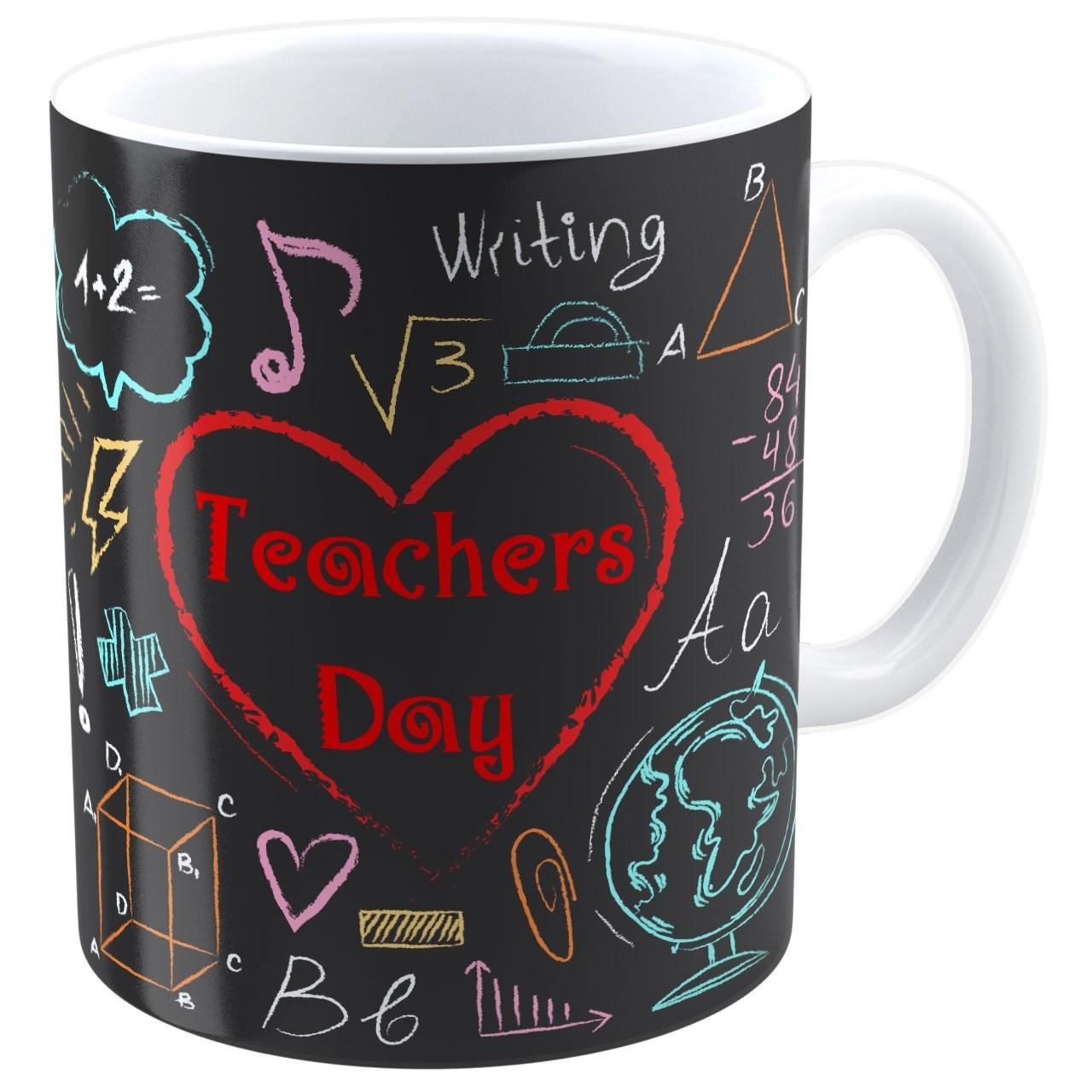 عکس ماگ شین دیزاین طرح  تخته گچی روز معلم کد 4159