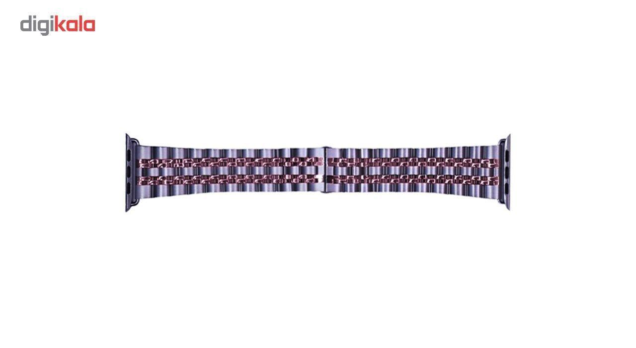 بند فلزی دو رنگ مدل SW-Q  مناسب برای اپل واچ 38 میلی متری main 1 2