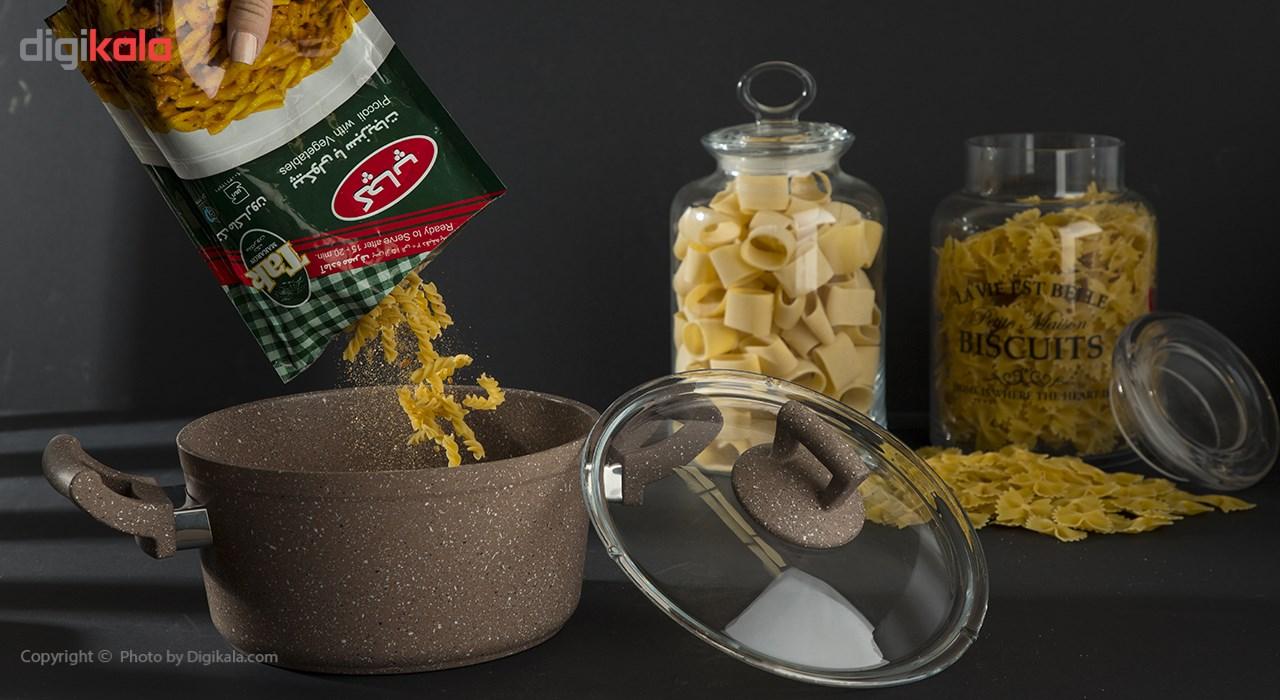 پاستا پیکولی سبزیجات با طعم کچاپ تک ماکارون مقدار 180 گرمی
