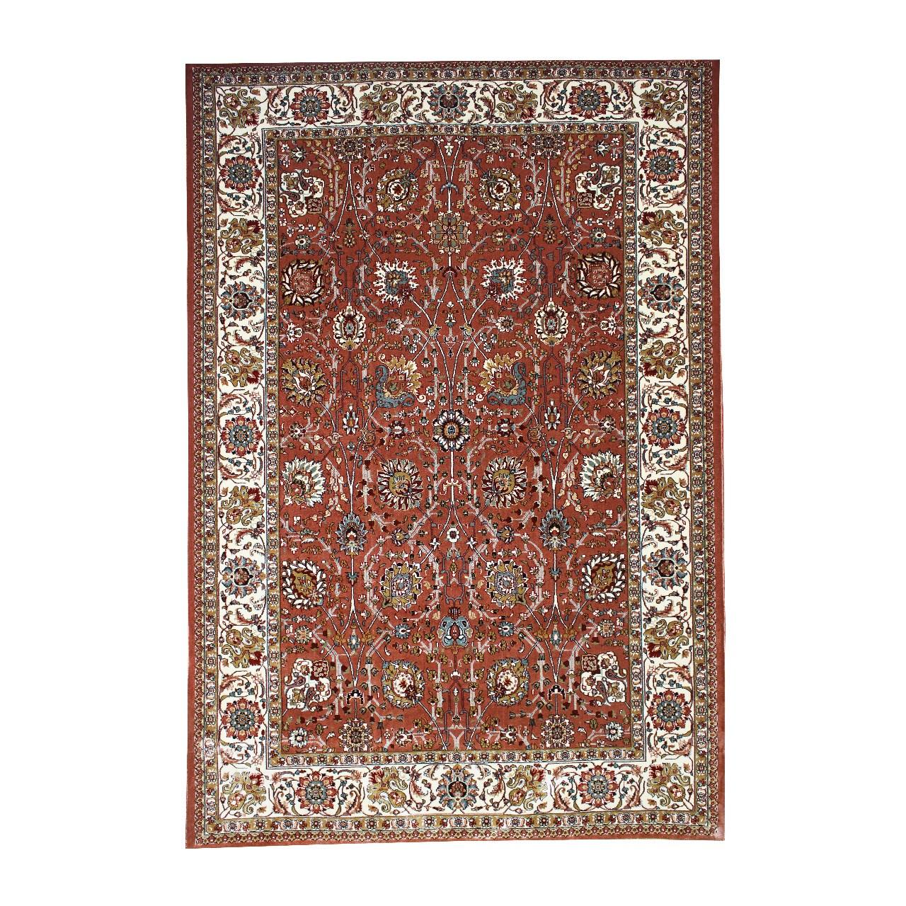 فرش ماشینی فرش ابریشمی کرامتیان طرح آنتیک
