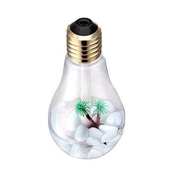 بخور سرد طرح لامپ رومیزی | usb humidifier 7colors night light bulb colorful