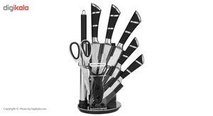 ست چاقوی 9 پارچه هوم لوکس سری کیچن نایف مدل RL-QKS1601