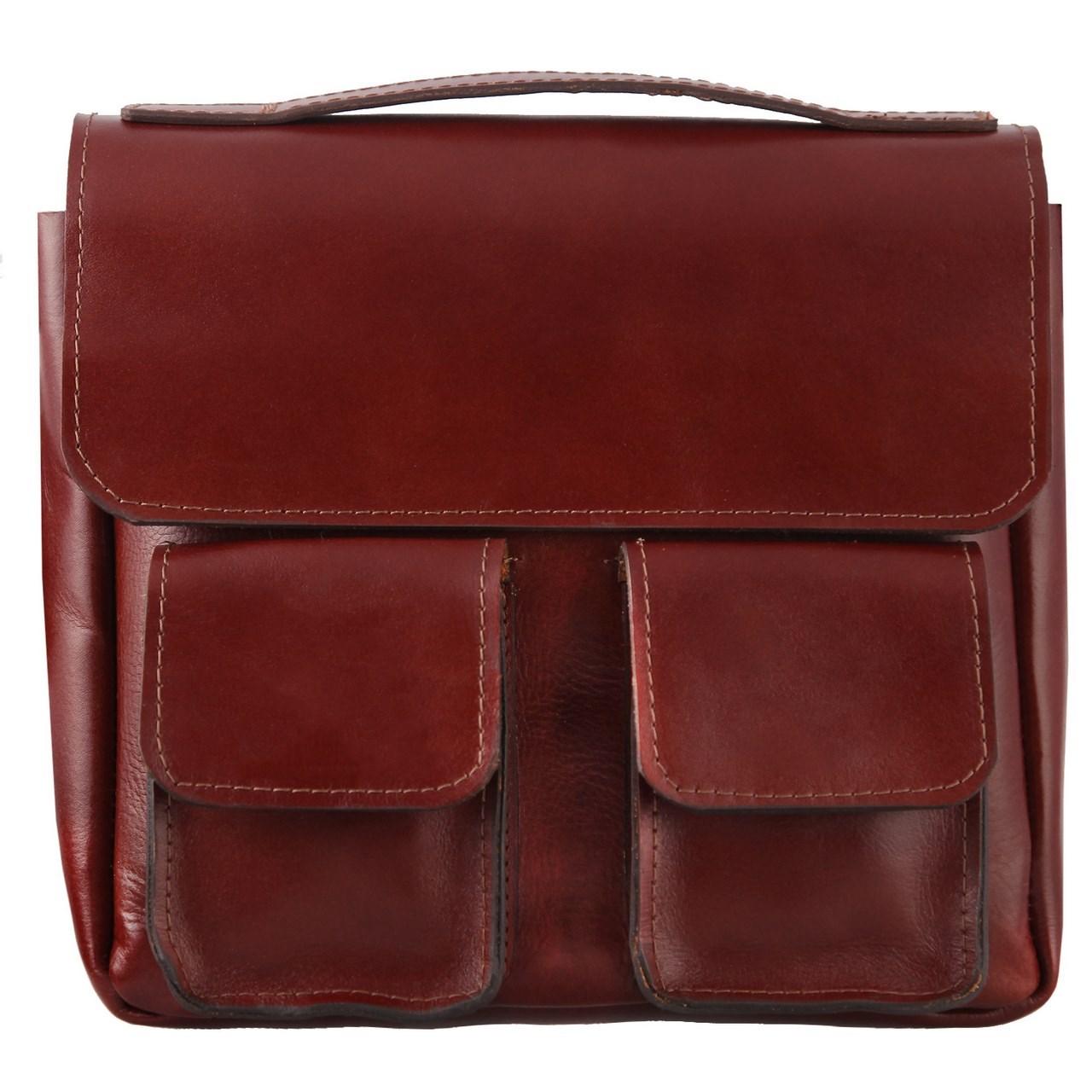 قیمت کیف دوشی چرم طبیعی گالری ستاک کد 81045