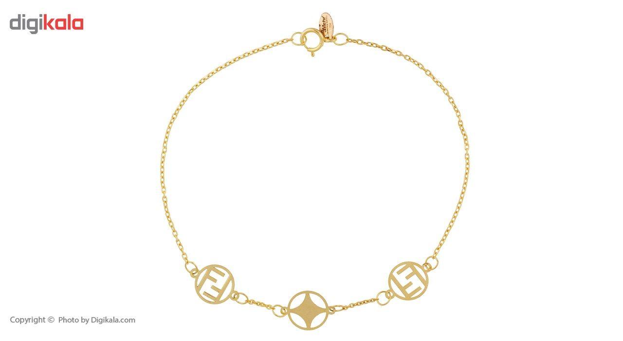 دستبند طلا 18 عیار ماهک مدل MB0355 - مایا ماهک -  - 2