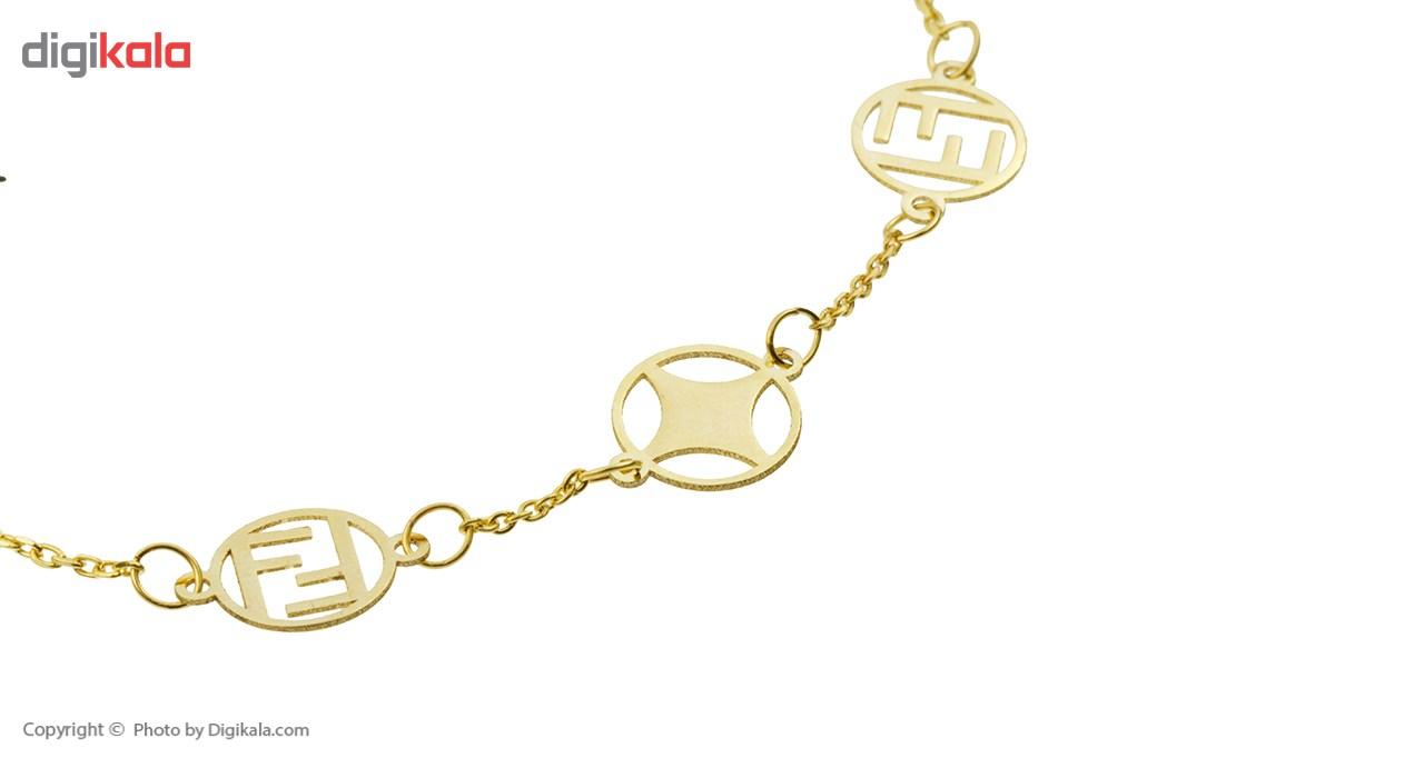 دستبند طلا 18 عیار ماهک مدل MB0355